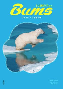Isbjörn hoppar över isflak.