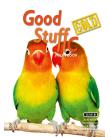 Två papegojor bredvid varandra.