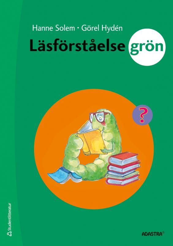 En grön larv som läser en bok.