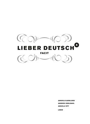 Lieber Deutsch 4 facit.