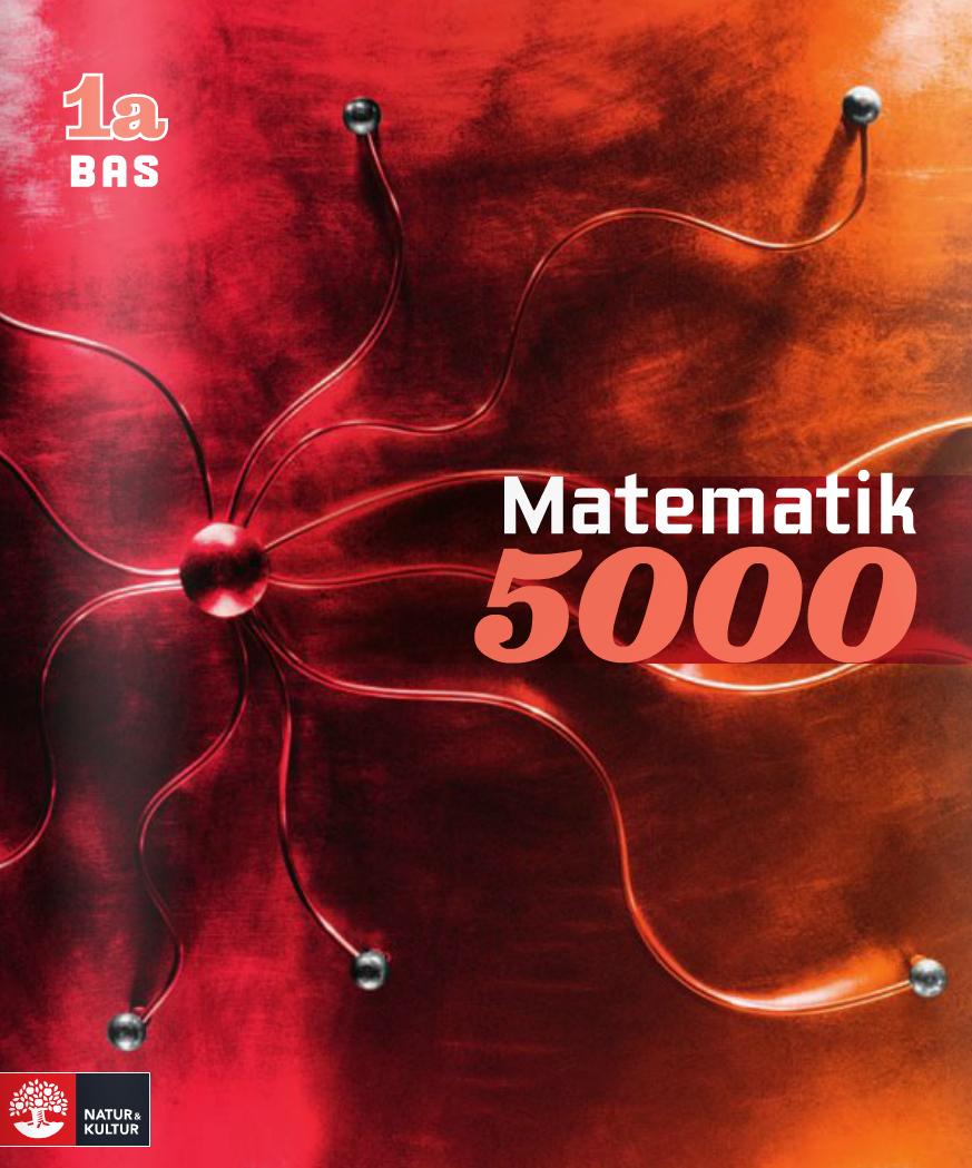 Matematik 5000 Kurs 1a Röd lärobok.