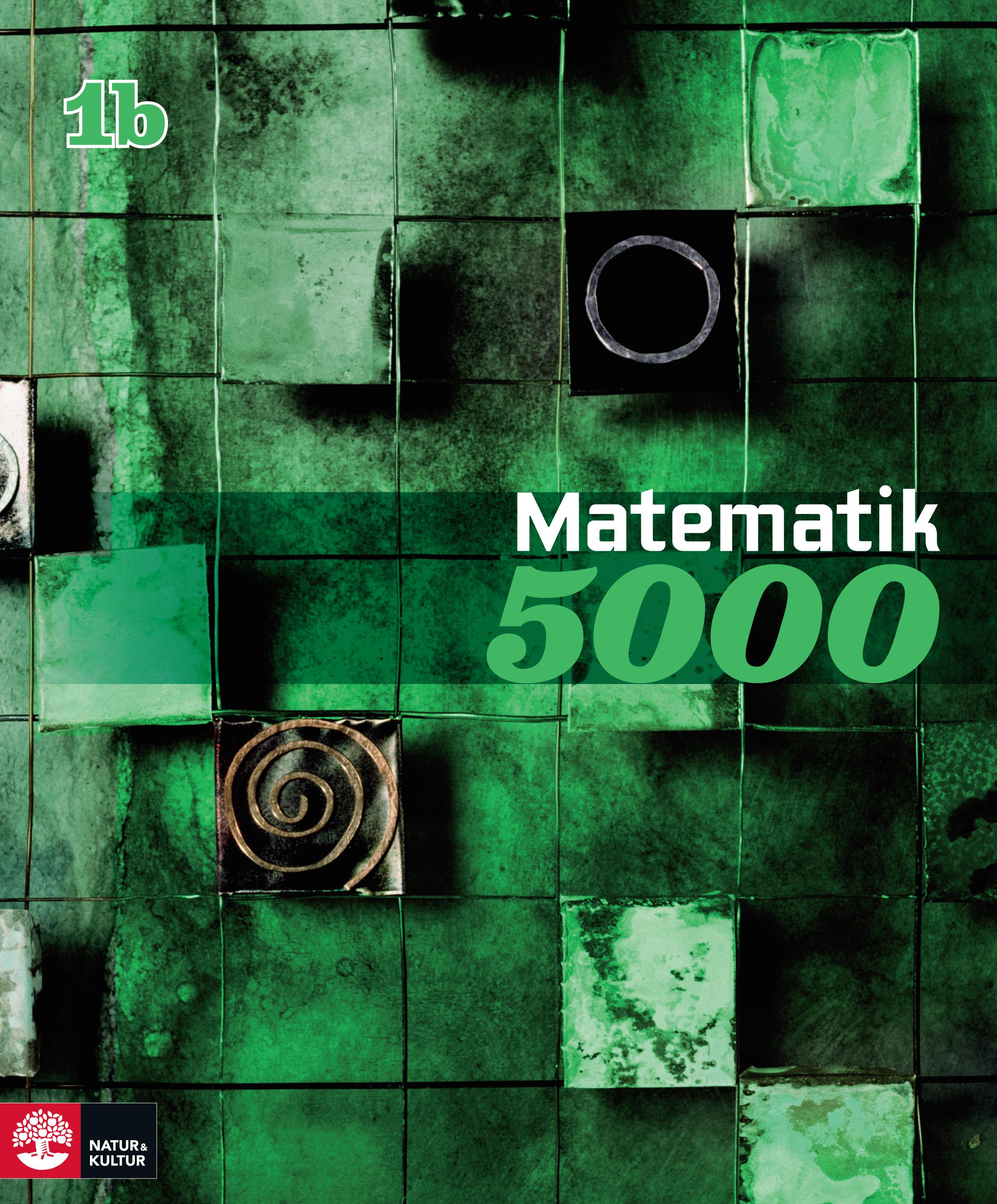 Matematik 5000 Kurs 1b Grön lärobok.
