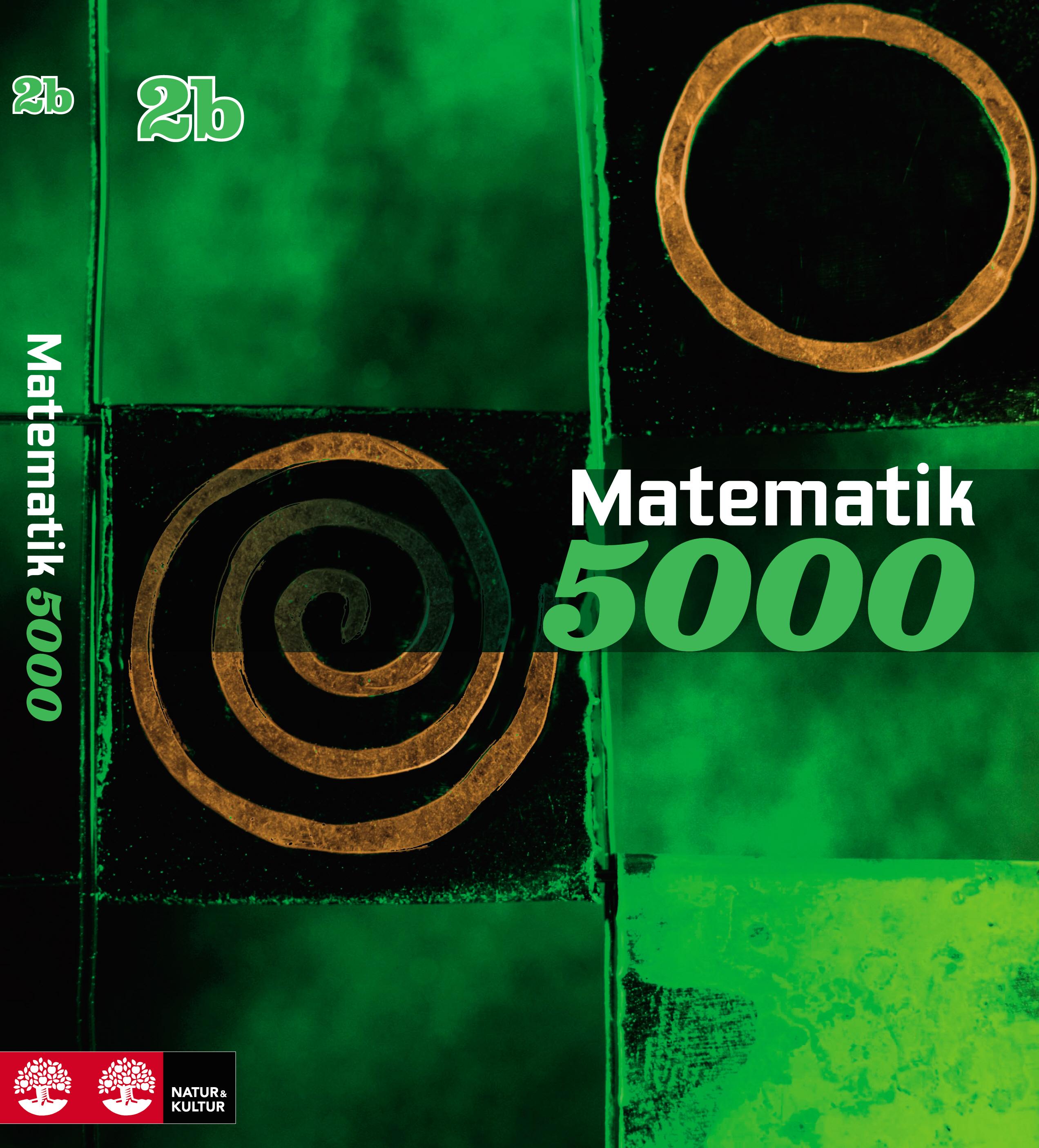 Matematik 5000 Kurs 2b Grön lärobok.