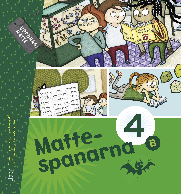 Mattespanarna 4B Grundbok.