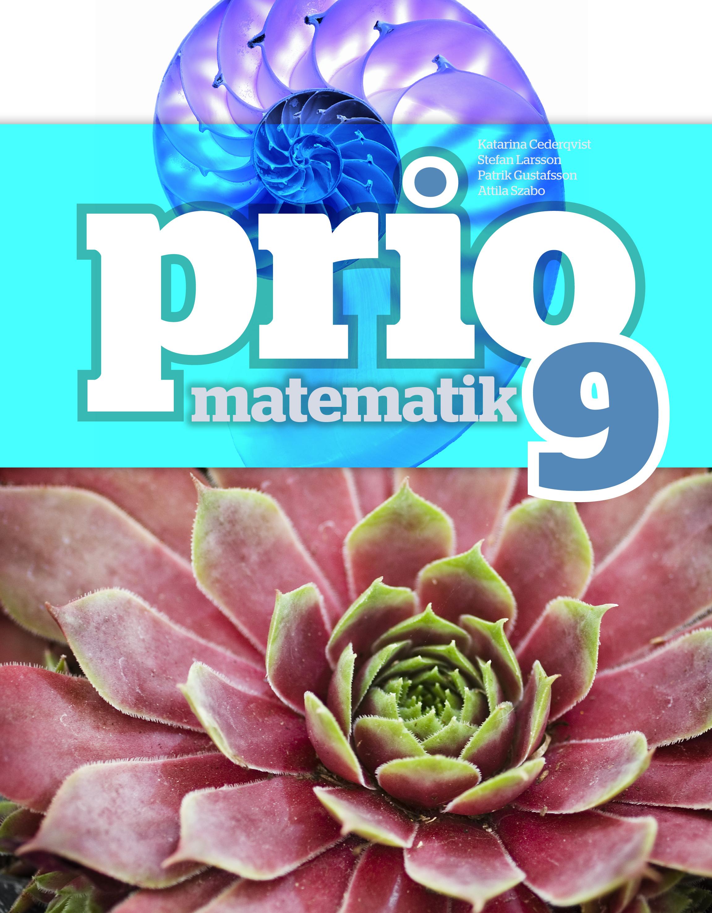 Prio Matematik 9 Grundbok.