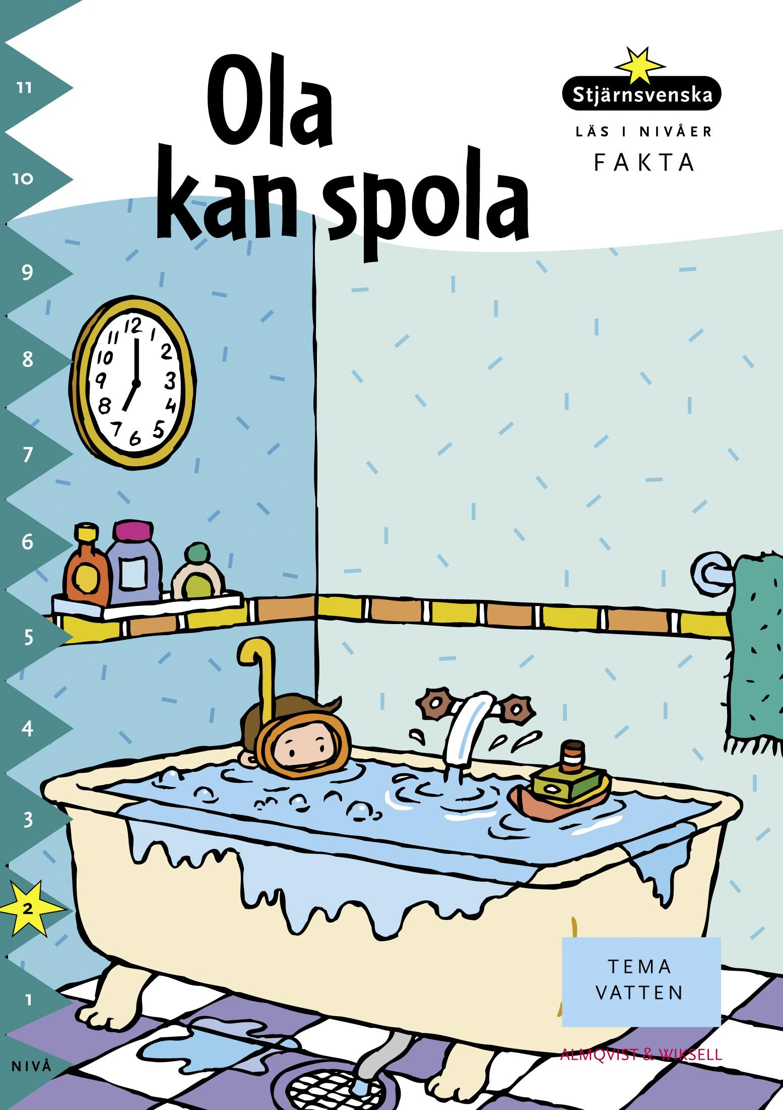 Barn med cyklop leker i överfullt badkar.