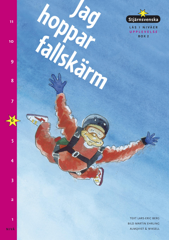 Fallskärmshoppare faller genom luften.