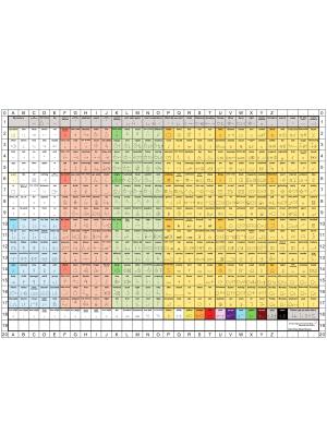 Engelsk standardkarta på papper.