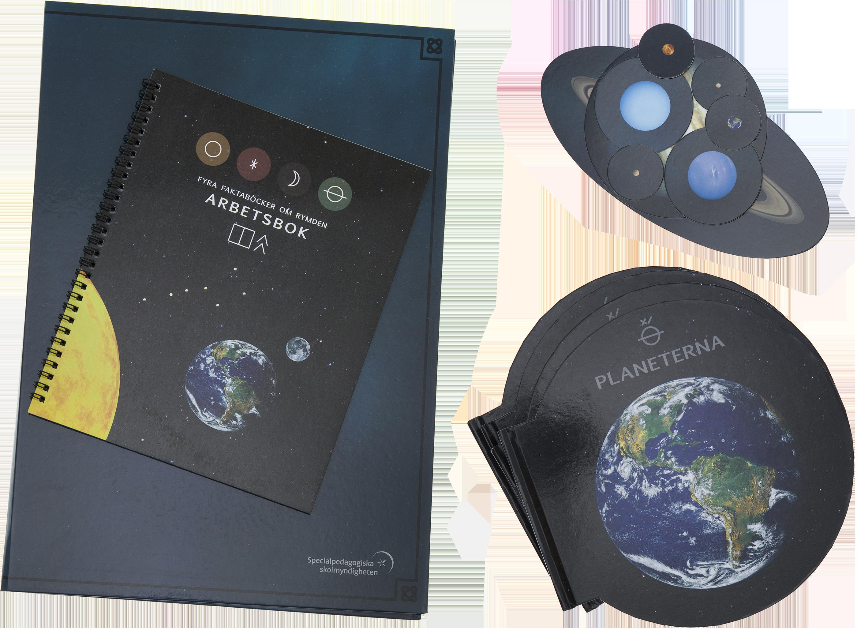 Arbetshäfte, planetböcker utlagda.