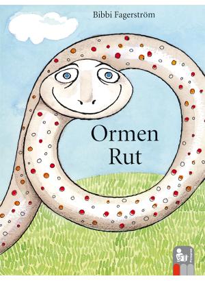 Tecknad orm ringlar sig på en gräsplätt.