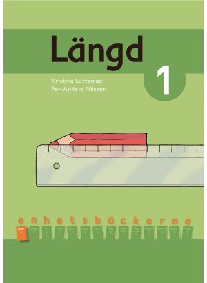Linjal som används för att mäta längd på en penna.