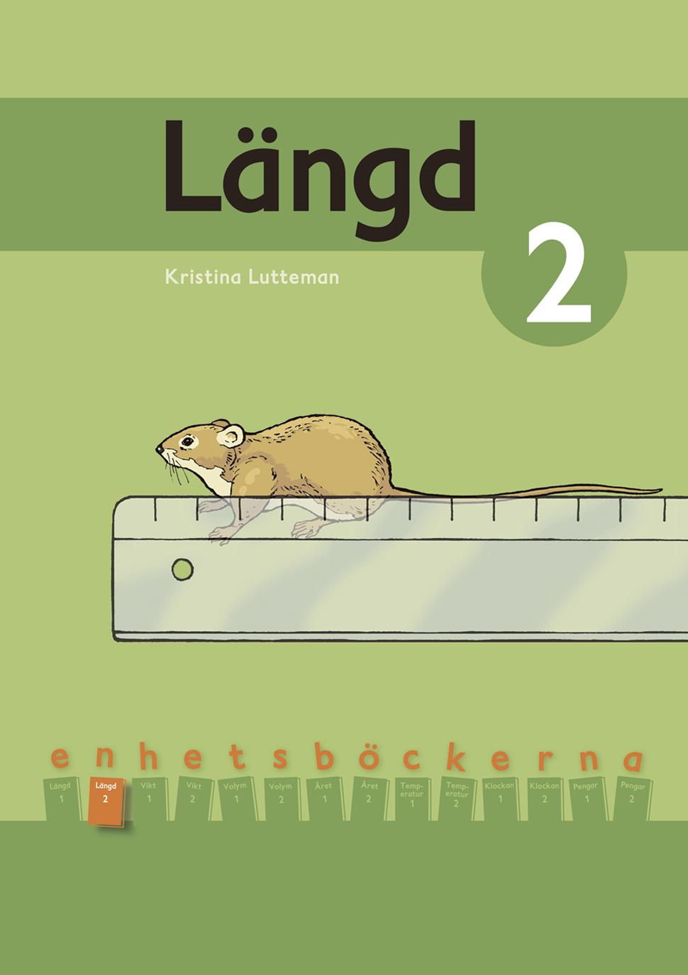 Linjal som används för att mäta längd på en mus.