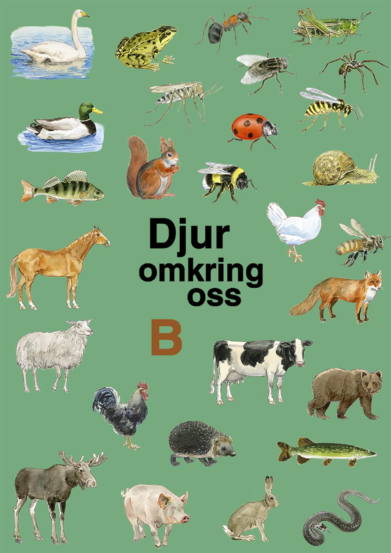 Diverse djur, såsom häst, gris, älg, humla och ekorre, med mera.