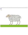 Reliefbild av ett får.