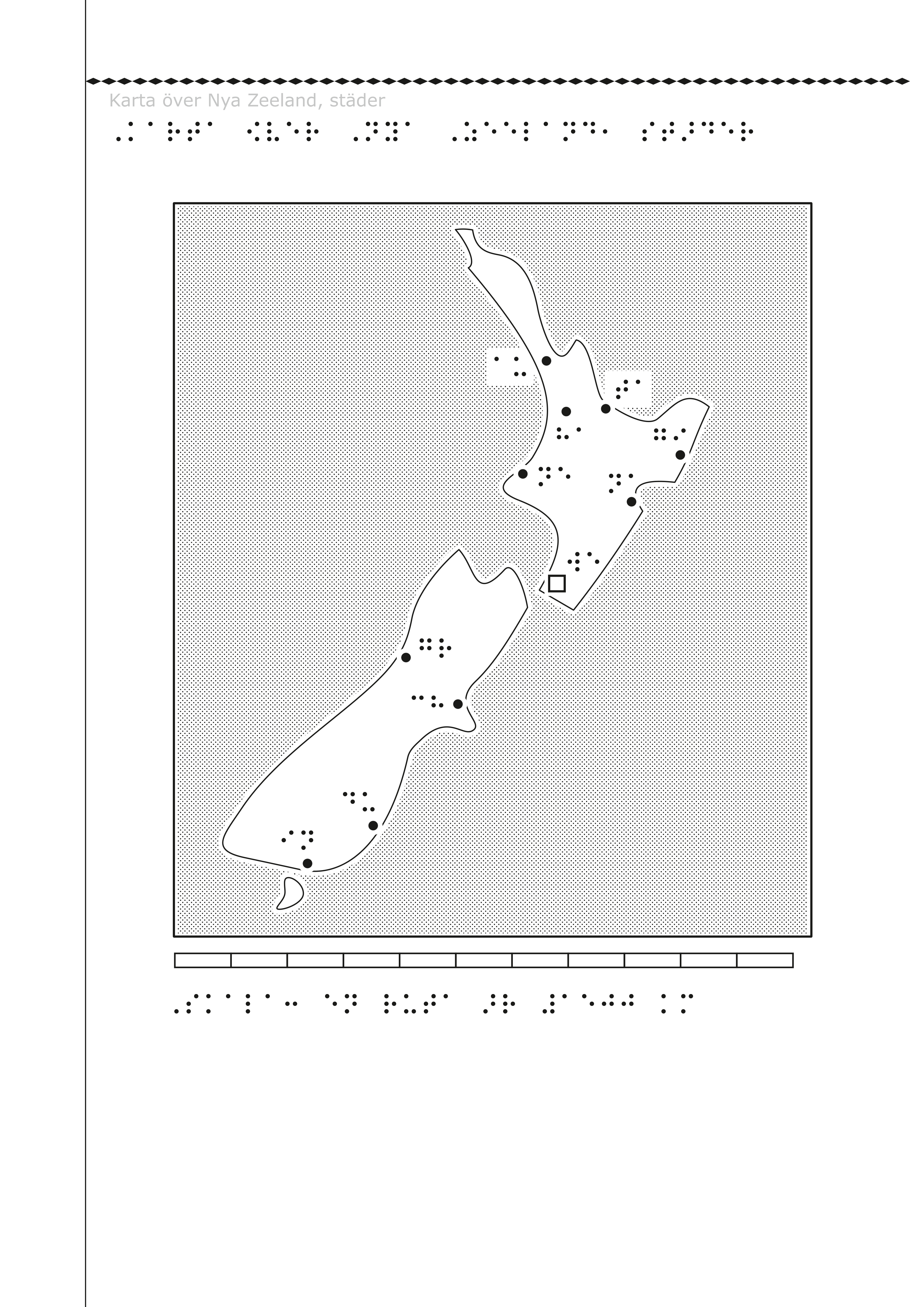 Nya Zeeland på svällpapper.