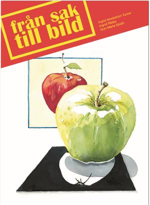 Grönt och rött äpple mot en vit bakgrund.