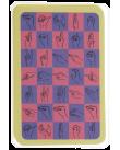 Kortlek med teckenspråkets handalfabet.