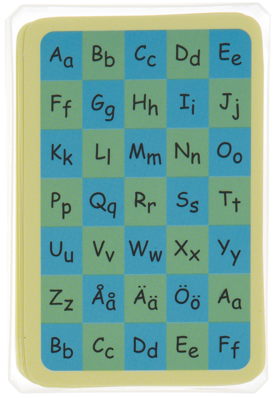 Kortlek- med svenskt alfabet.