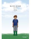 Pojke står på gräsäng.