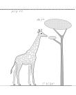 Taktil bild på an giraff.