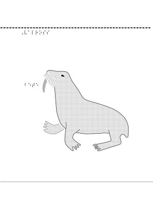 Taktil bild på en valross.