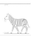 Taktil bild på en zebra.