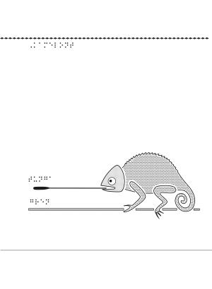 Kameleont i relief.