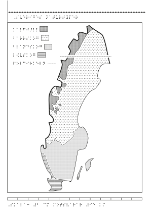 Karta över Sveriges naturtyper.