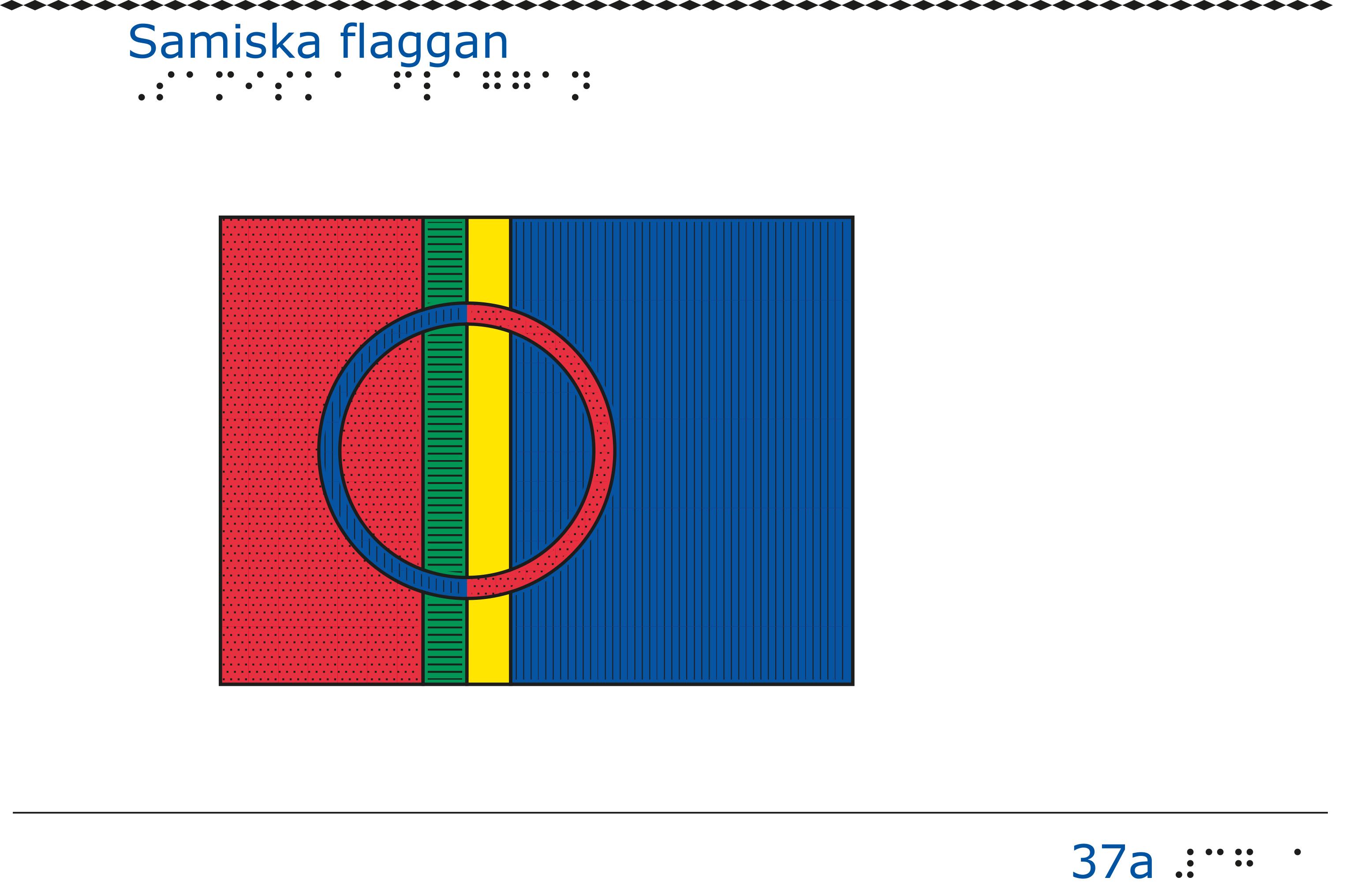 Taktil bild Samiska flaggan.