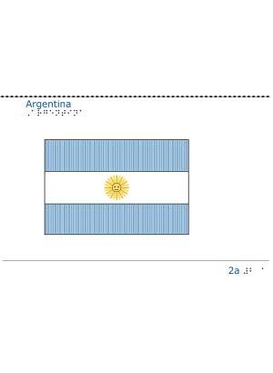 Taktil bild -  Argentinas flagga.