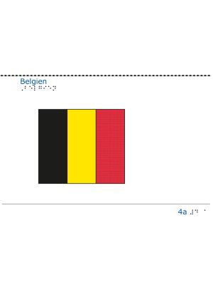 Taktil bild - Belgiens flagga.