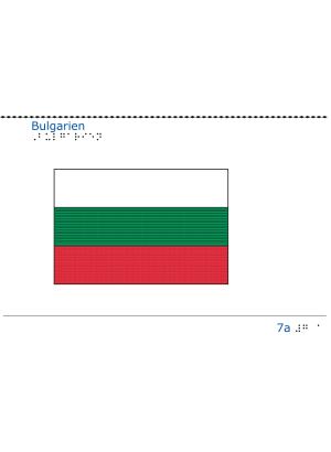 Taktil bild - Bulgariens flagga.