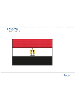 Taktil bild - Egyptens flagga.