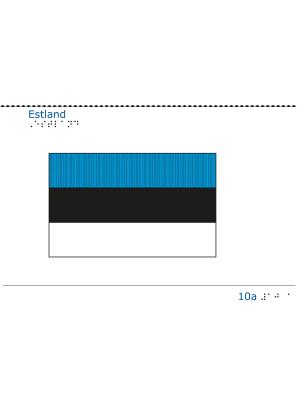 Taktil bild - Estlands flagga.