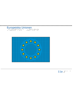 Taktil bild - EUs flagga.