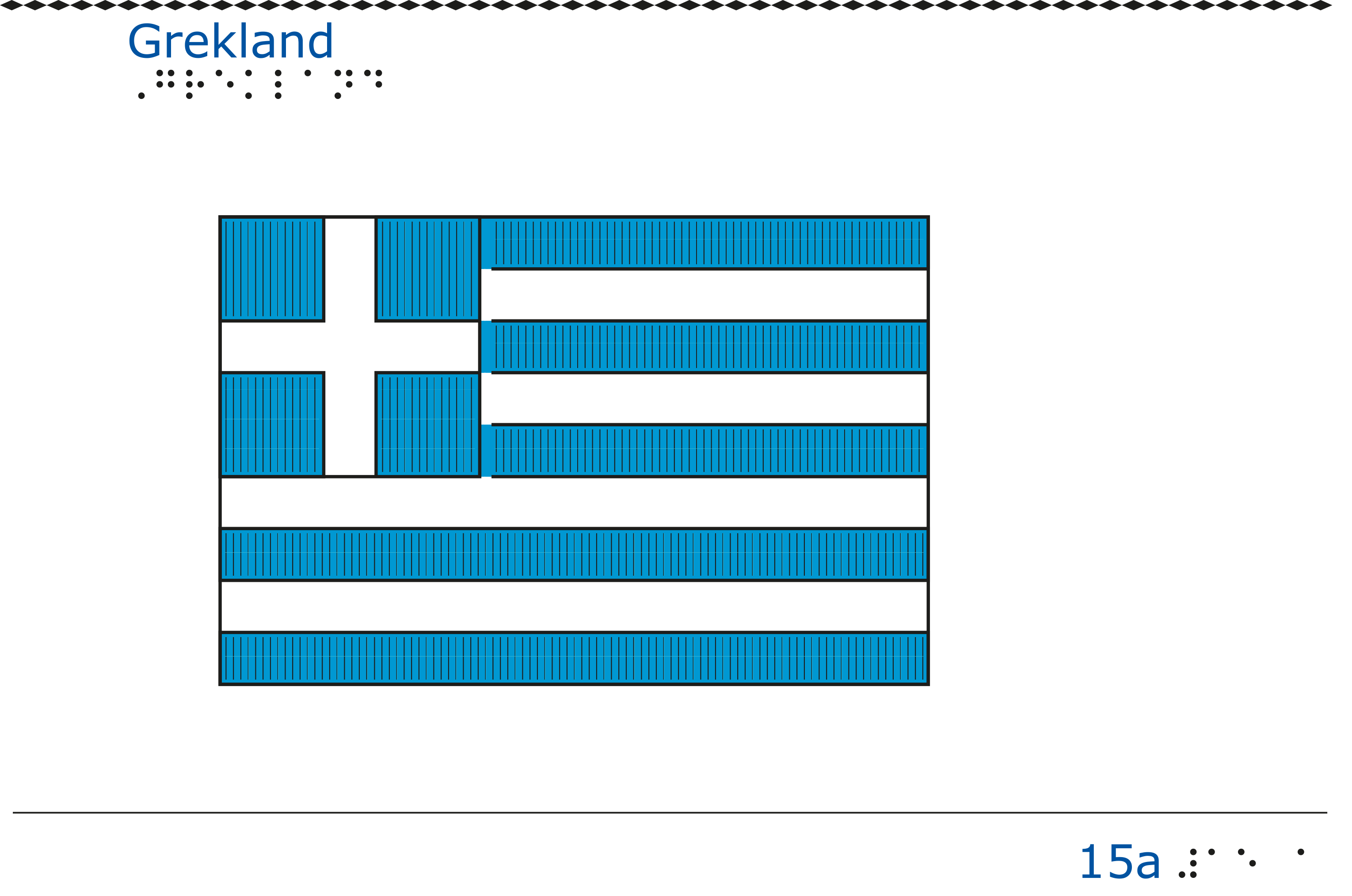 Taktil bild - Greklands flagga.
