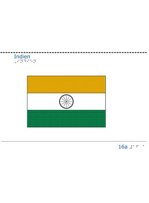 Taktil bild - Indiens flagga.