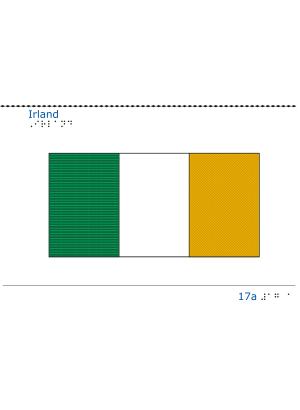 Taktil bild - Irlands flagga.