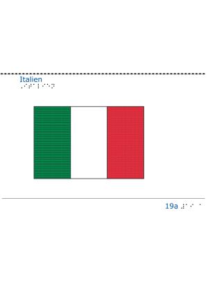 Taktil bild - Italiens flagga.
