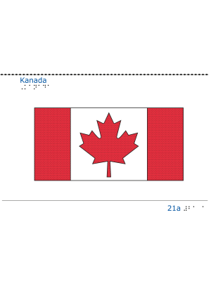 Taktil bild - Kanadas flagga.