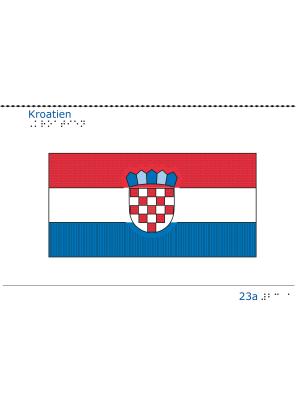 Taktil bild - Kroatiens flagga.