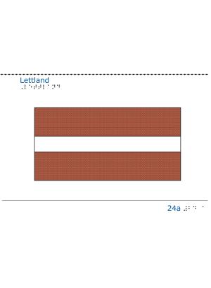 Taktil bild - Lettlands flagga.
