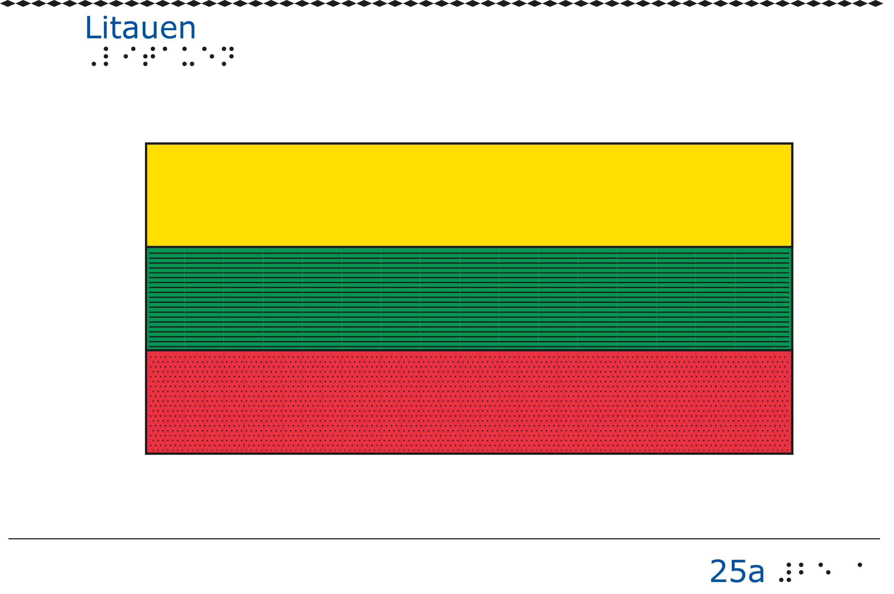 Taktil bild - Litauens flagga.