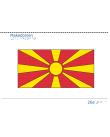 Taktil bild - Makedoniens flagga.