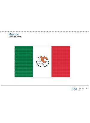 Taktil bild - Mexicos flagga.