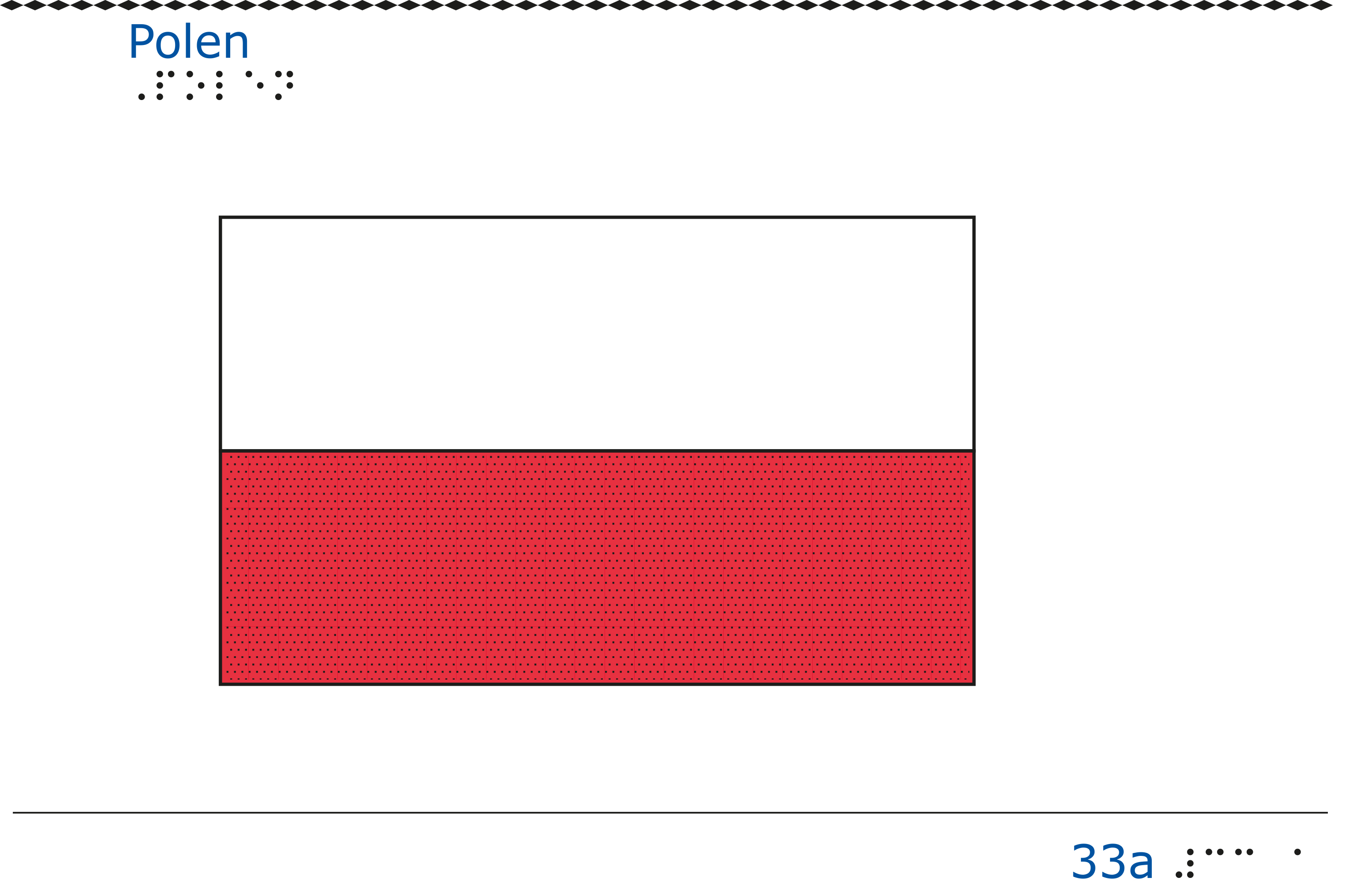 Taktil bild - Polens flagga.