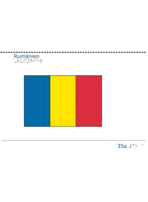 Taktil bild - Rumäniens flagga.