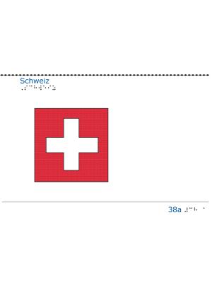 Taktil bild - Schweiz flagga.