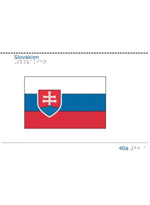 Taktil bild - Slovakiens flagga.