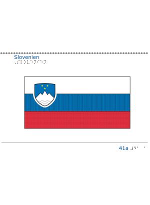 Taktil bild Sloveniens flagga.